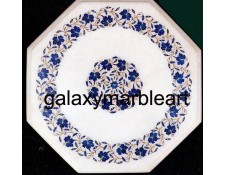 marble table top inlaid with lapis lazuli WP-15103