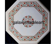 coral inlaid marble table top WP-15130