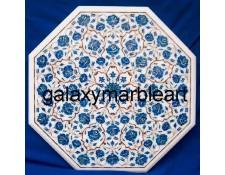 "Lapislazuli gemstone inlaid table top 22"" WP-22194"