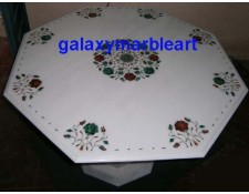 "Makrana marble inlay work simple design table top 34"" WP-3401"