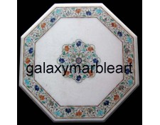 "home décor marble inlay table top 21"" WP-21113"