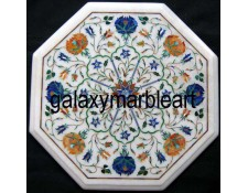 white marble inlay table top WP-1401