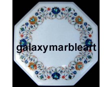 Gorgeous Agra marble inlay handicraft table top WP-1404