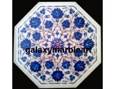 Appealing white marble inlay coffee table top WP-1406