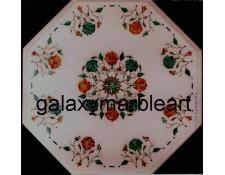 Attractive Cornelian Malachite combination coffee table top  WP-1483