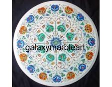 Sangemarmar marble inlay work table top WP-19210